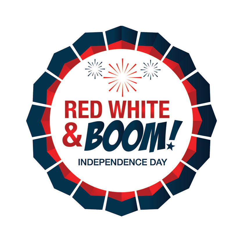 Red White and Boom Logo
